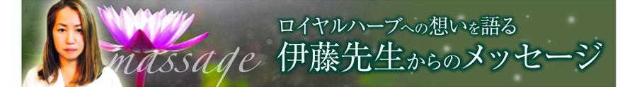 伊藤先生からのメッセージ